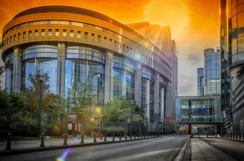 Clădirea Parlamentului Uniunii Europene, Bruxelles, Belgia.