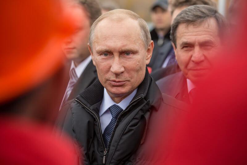 Președintele Vladimir Putin, la ceremonia de inaugurare a celui de-al treilea pod al orașului Novosibirsk. (8 octombrie 2014)