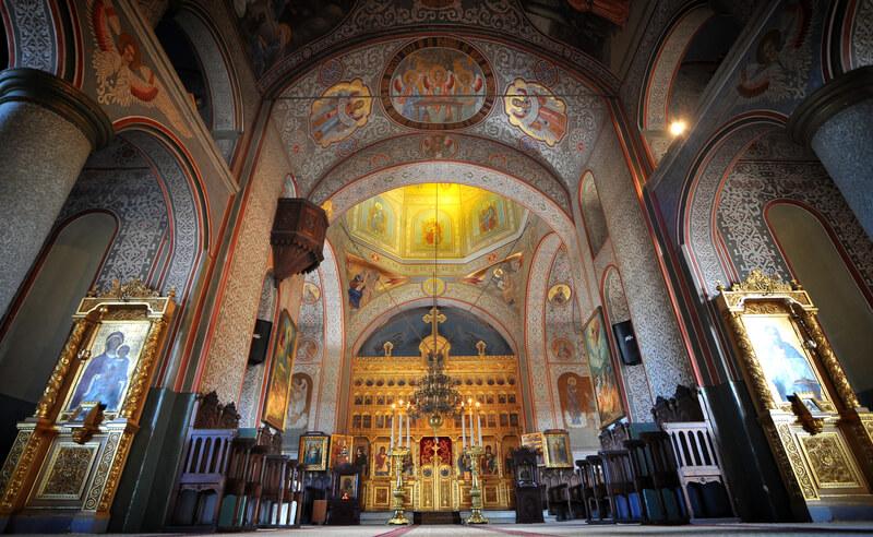 Biserică ortodoxă din Tulcea, România.