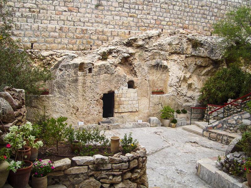 A doua locaţie pentru mormântul lui Iisus, în Grădina Mormântului, Ierusalim.