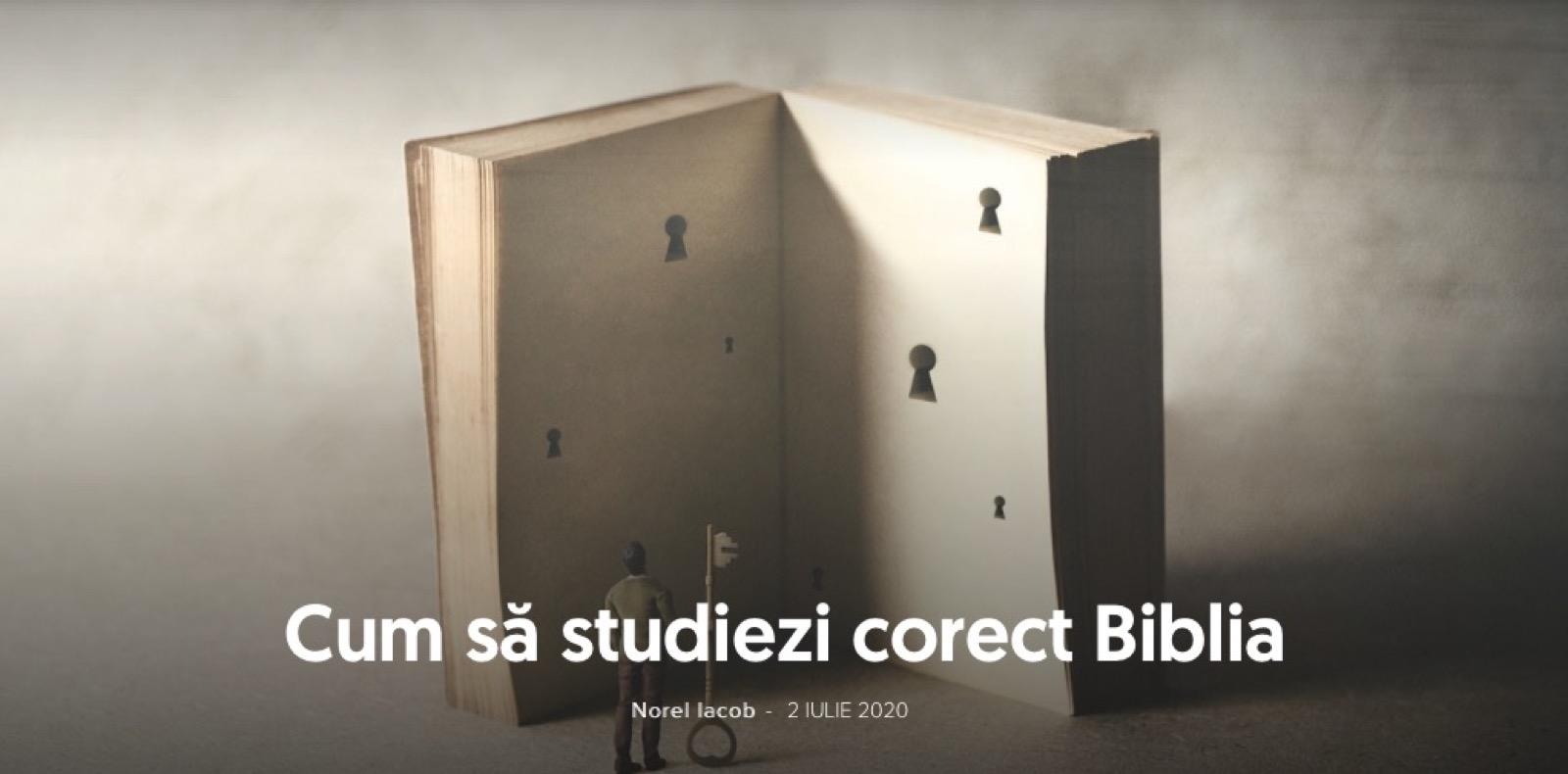 Cum sa studiem corect Biblia