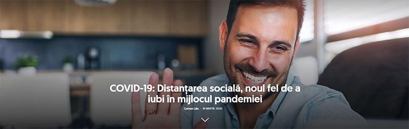 Screenshoot- COVID-19: Distanţarea socială, noul fel de a iubi în mijlocul pandemiei