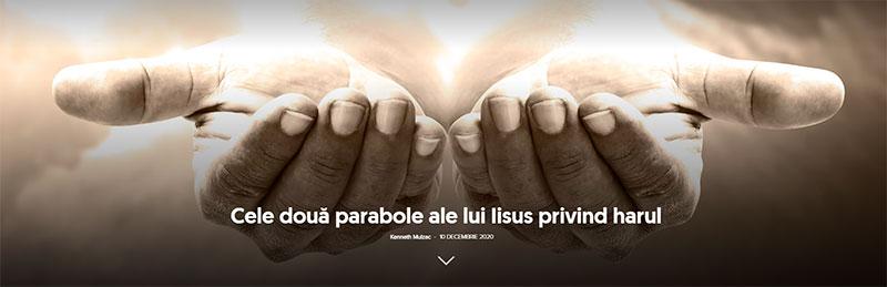Cele două parabole ale lui Iisus privind harul