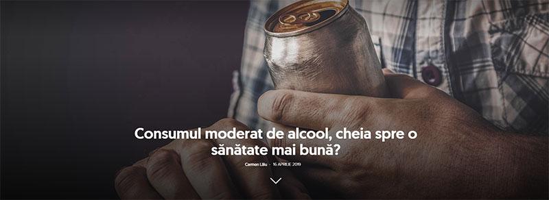 Consumul moderat de alcool